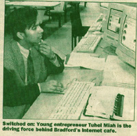 Tuhel Miah surfing the Internet back in 1996