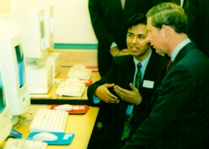 Tuhel Miah with HRH Prince Charles