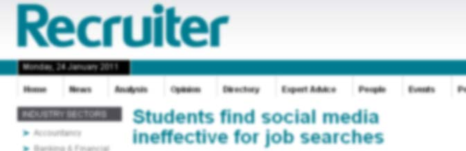 report on students use of social media to find jobs