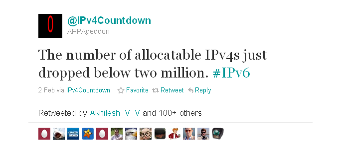 ipv4 addresses running out soon